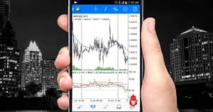 Forex trading on a phone